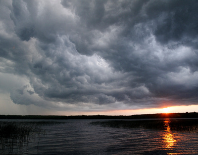 Storm Clouds Over Lake Carlos